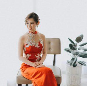lacy cheongsam