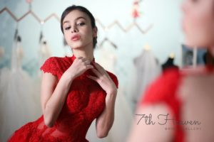 gorgeous red qipao