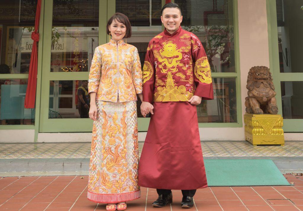 kwa and groom attire