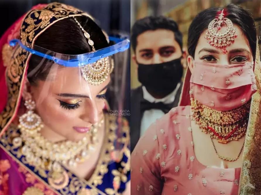 matching mask-indian wedding