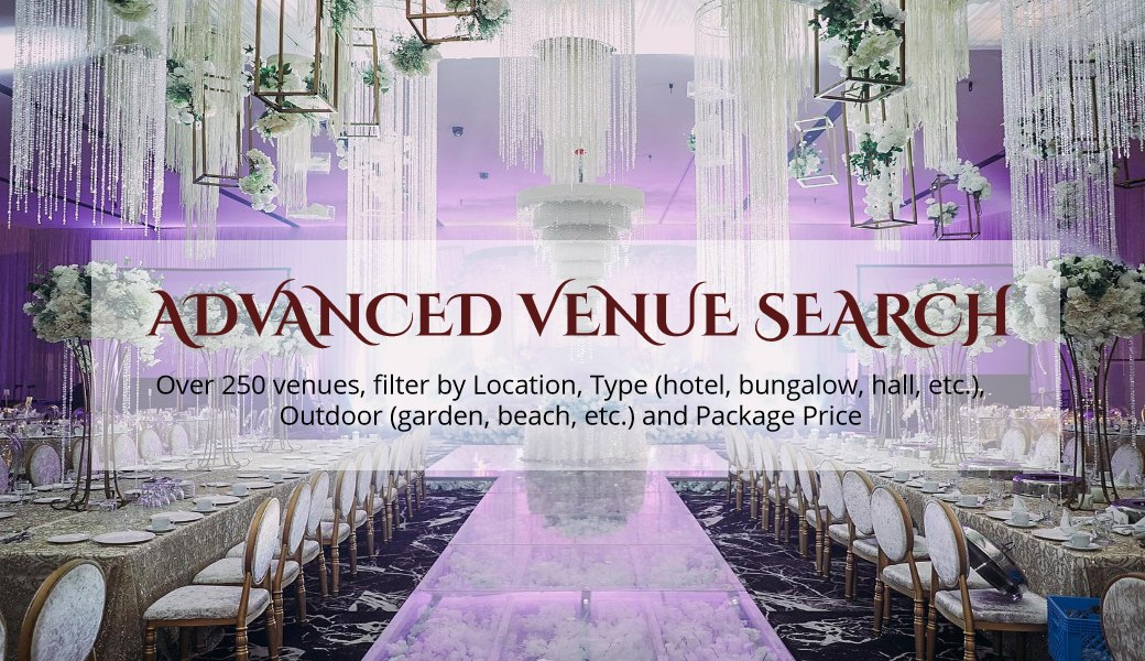 Wedding Venue Malaysia Glam hall rental banquet ballroom