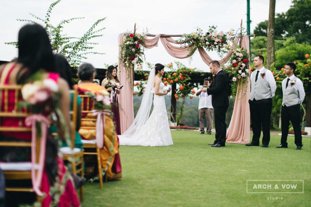 Pulai Springs Resort Wedding Johor Bahru arch & vow garden wedding