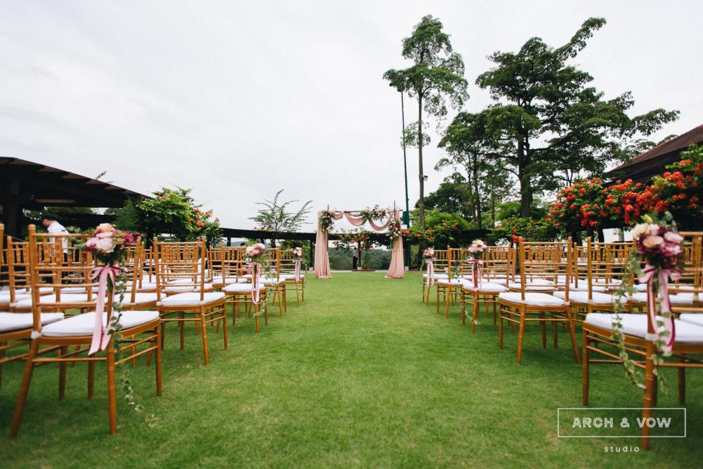 Pulai Springs Resort Wedding Johor Bahru garden chairs tiffany