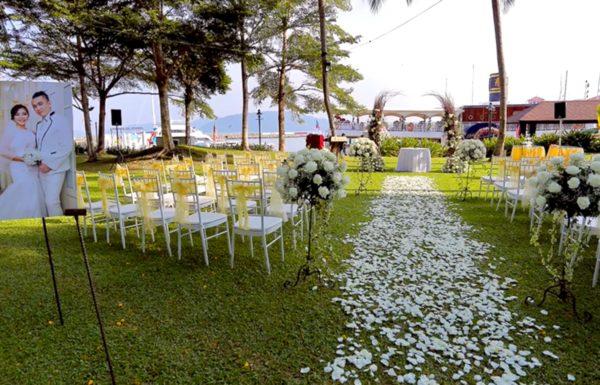 Sutera Harbour resort kota kinabalu sabah wedding garden sea view