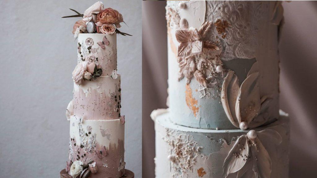 wedding cake with amazing details
