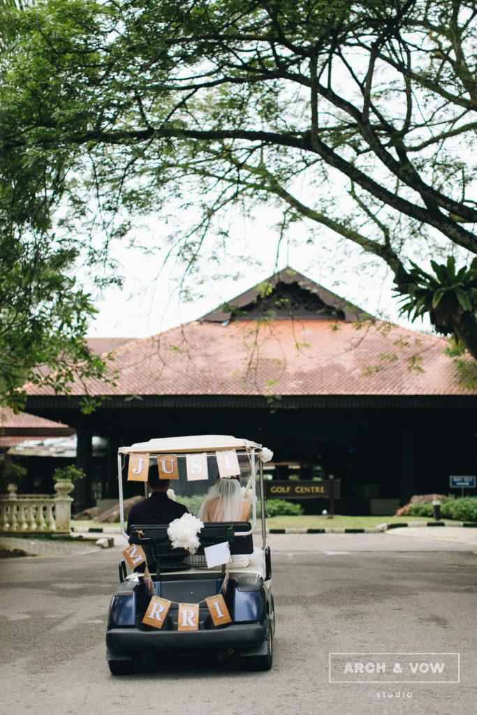 buggy Pulai Springs Resort Wedding Johor Bahru