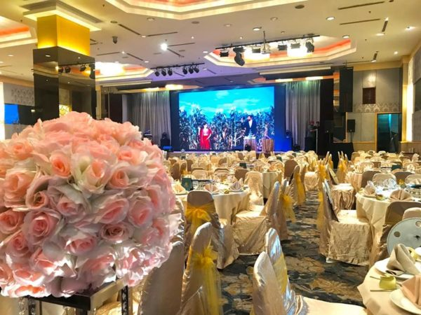 crystal crown pj wedding ballroom flower