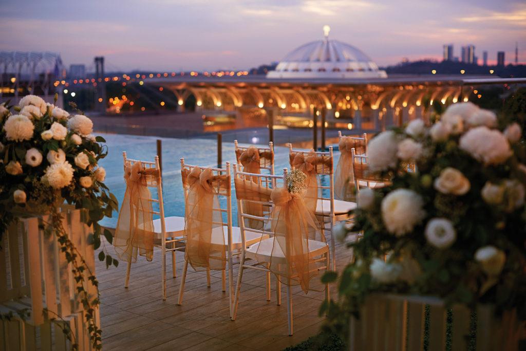 dorsett putrajaya poolside garden wedding rom