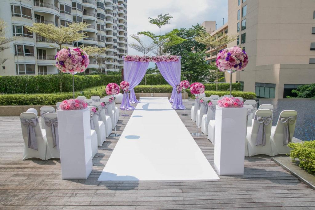 garden wedding at G Hotel Penang horizon