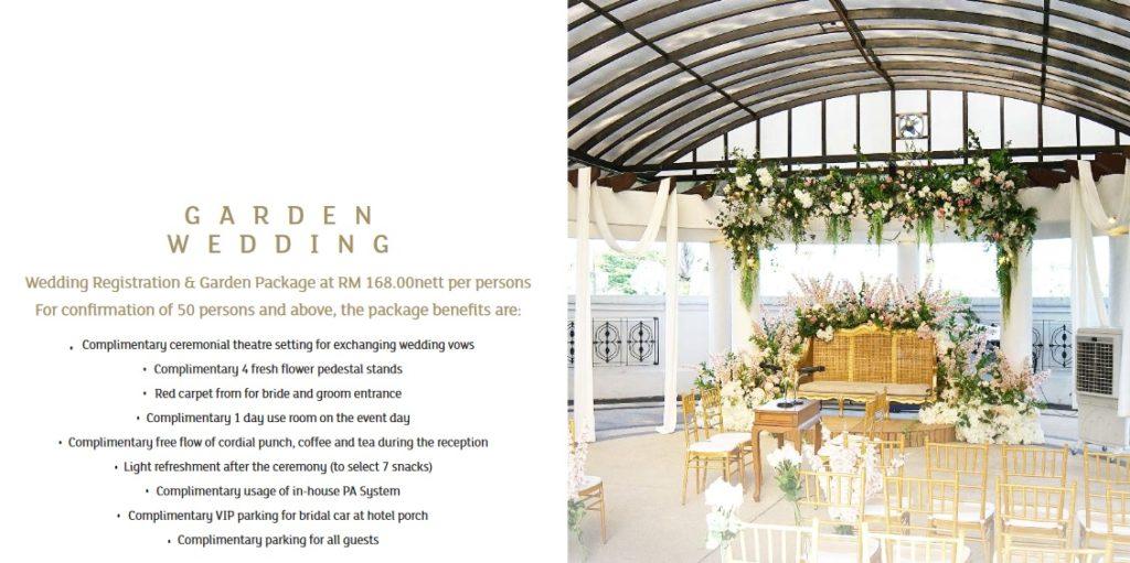 garden wedding package 2020