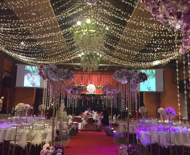 geneva theme banquet wedding johor fairy lights hall