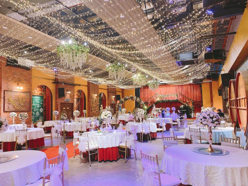 geneva theme banquet wedding johor wine ballroom lights fairy
