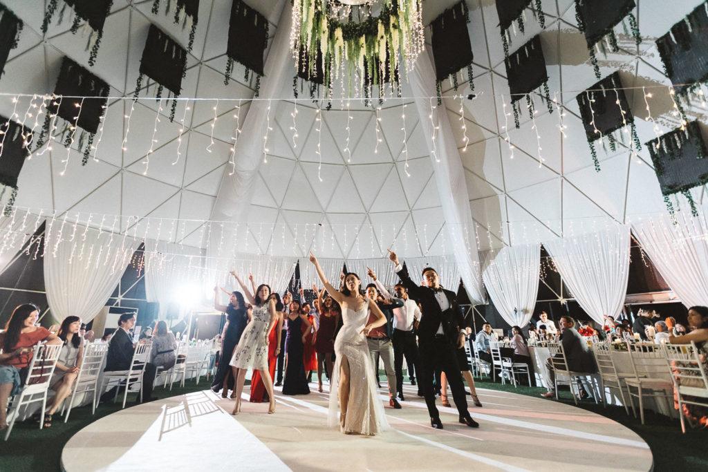 glamz genting wedding dome dancing
