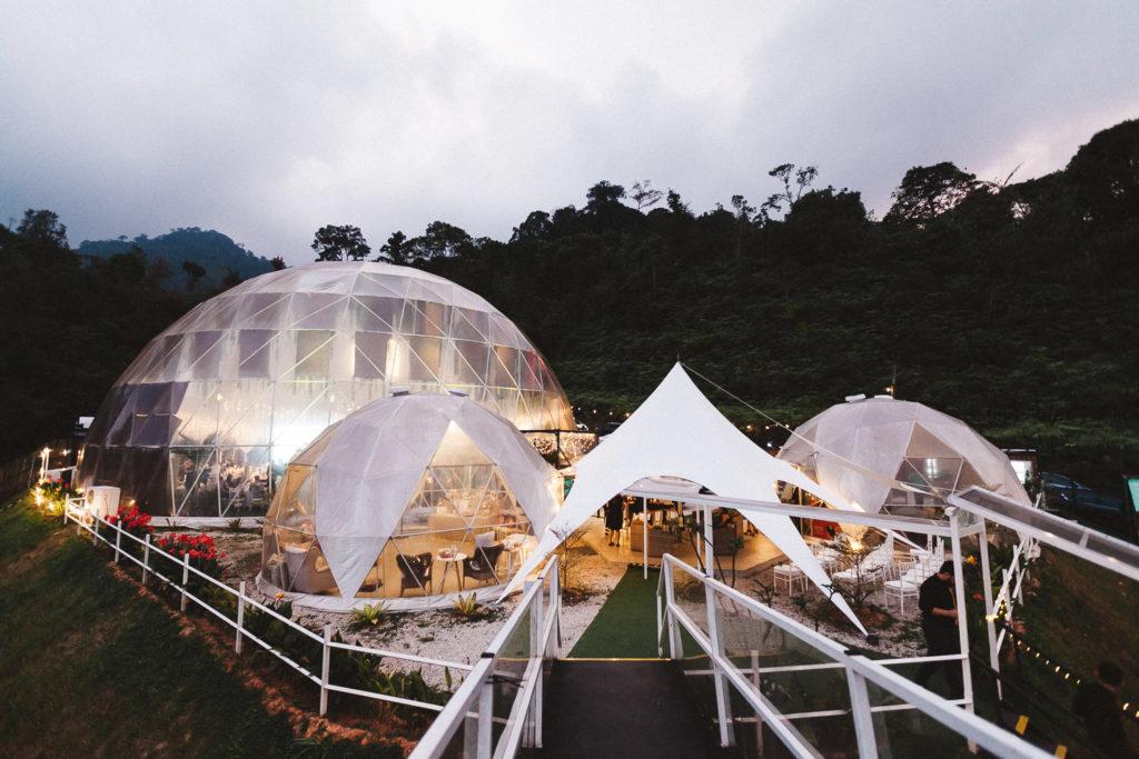 glamz genting wedding dome glamping under stars