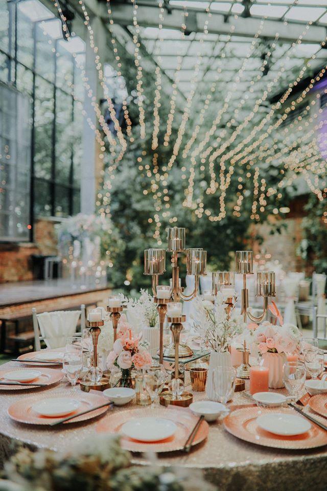 glasshouse seputeh wedding pathway garden fairy table setting