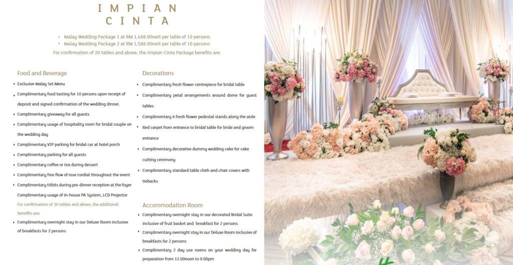 glenamrie shah alam malay wedding package 2020