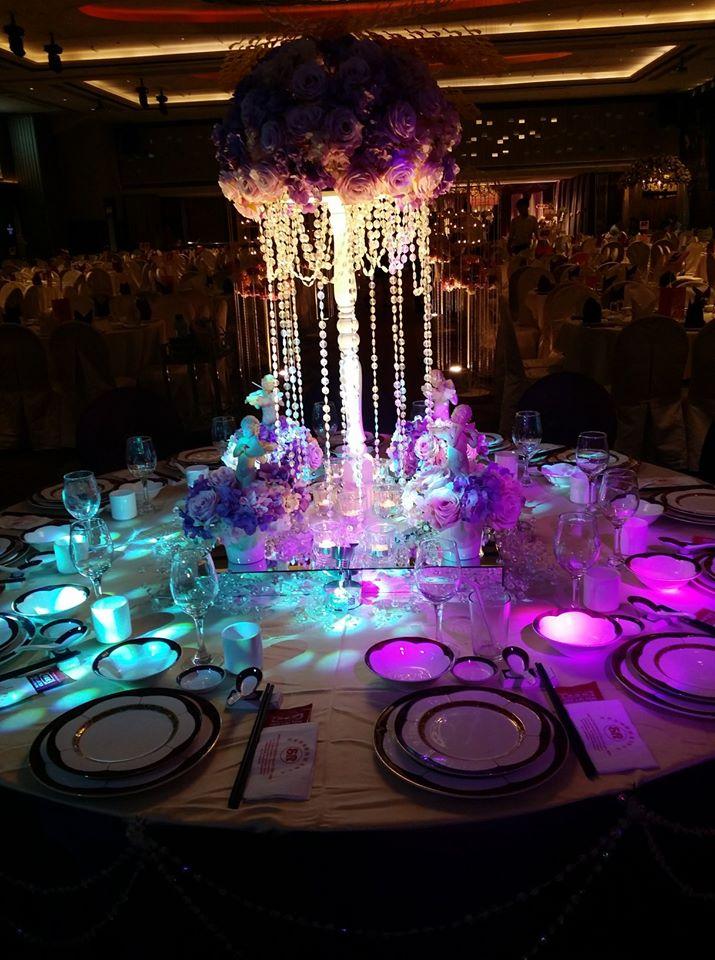 grand wedding chinese flowers serdang