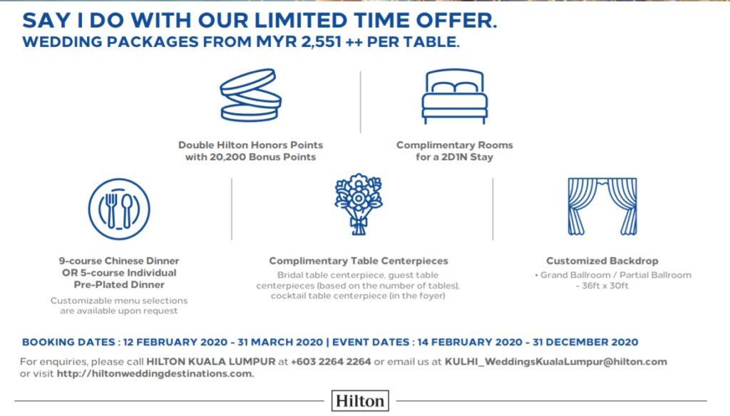 5 star hotel wedding promotion kl