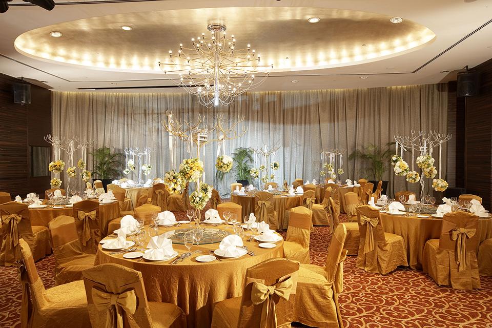 impiana kl ballroom for wedding yellow