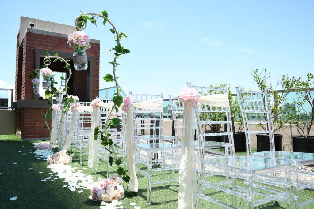 ixora penang garden poolside wedding outdoor