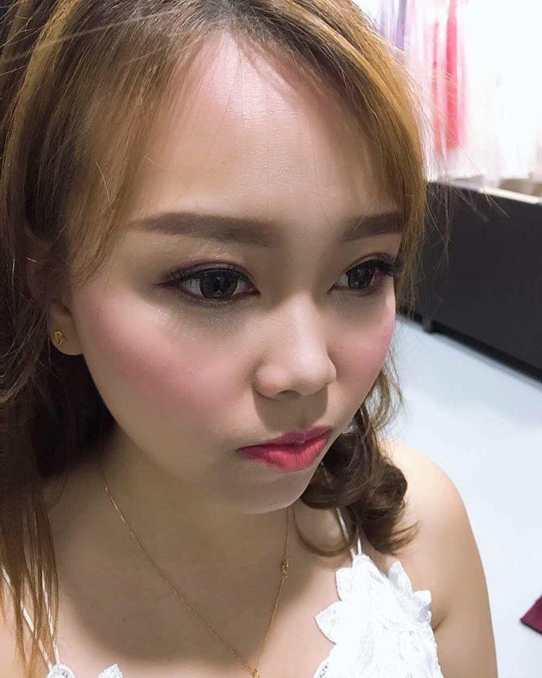Bridal makeup closeup Melaka