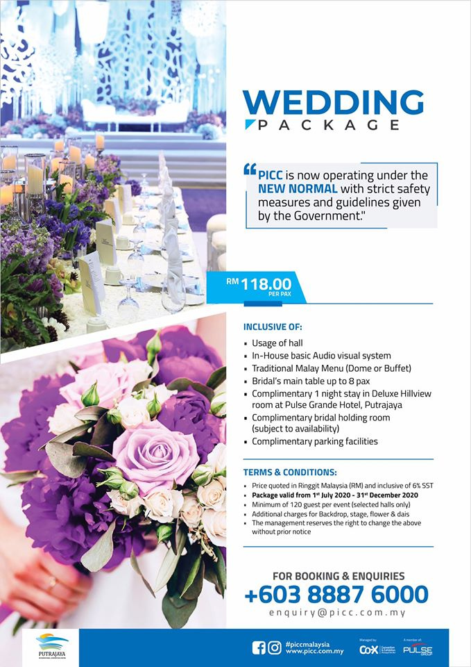 picc wedding package 2020