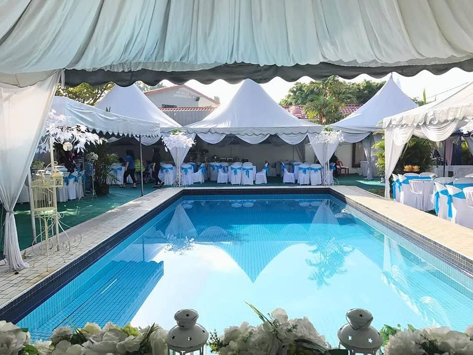 pool side wedding malay flowers titiwangsa sumira place
