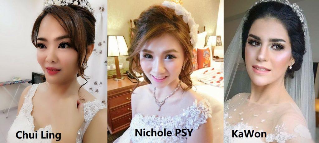 Princess glam bridal look Malaysia