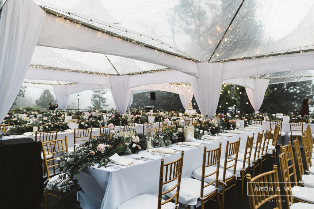 puncak dani arch & vow wedding dining under stars decor