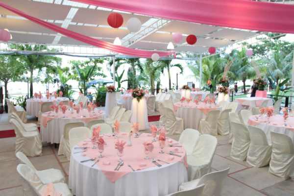 rainbow paradise penang beach wedding sheltered
