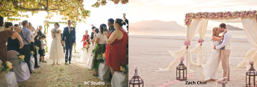 beach wedding photographer malaysia