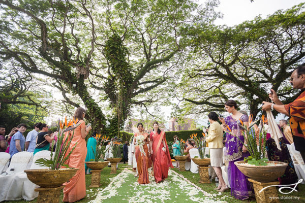 shangri-la rasa sayang garden wedding penang rain trees stories