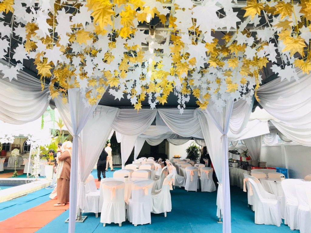 sumira place wedding outdoor malaysia flowers decor