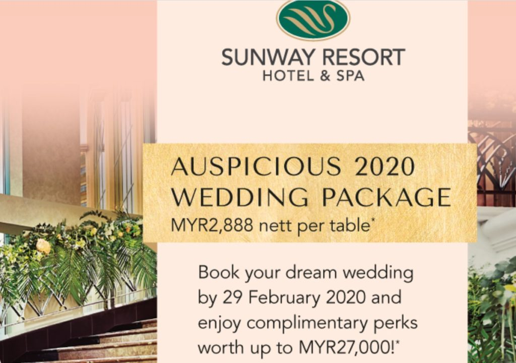 sunway resort wedding package