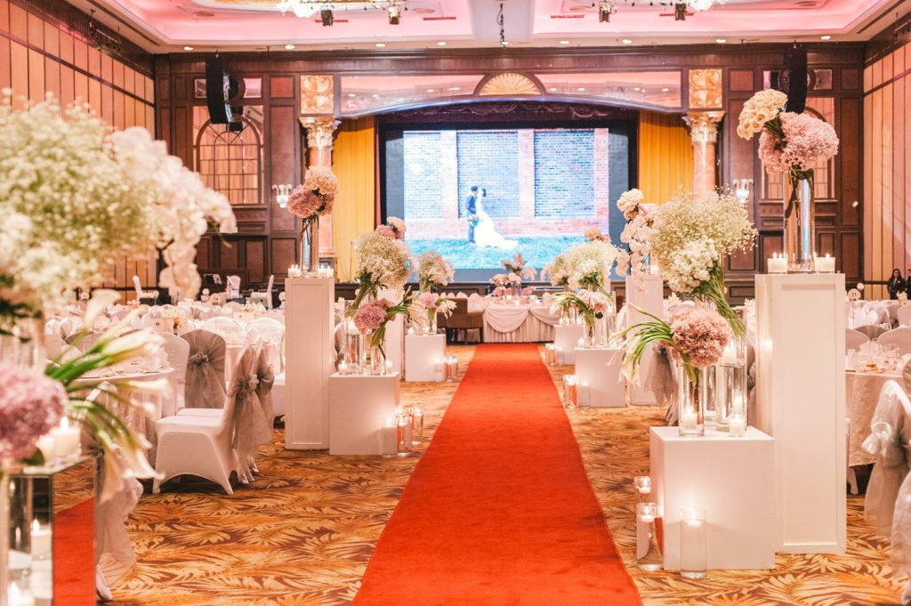 sunway resort wedding ballroom wishing tree decoration