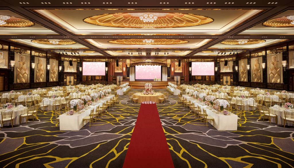 sunway resort hotel wedding romantic ballroom
