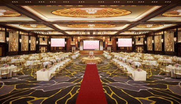 sunway resort wedding romantic ballroom