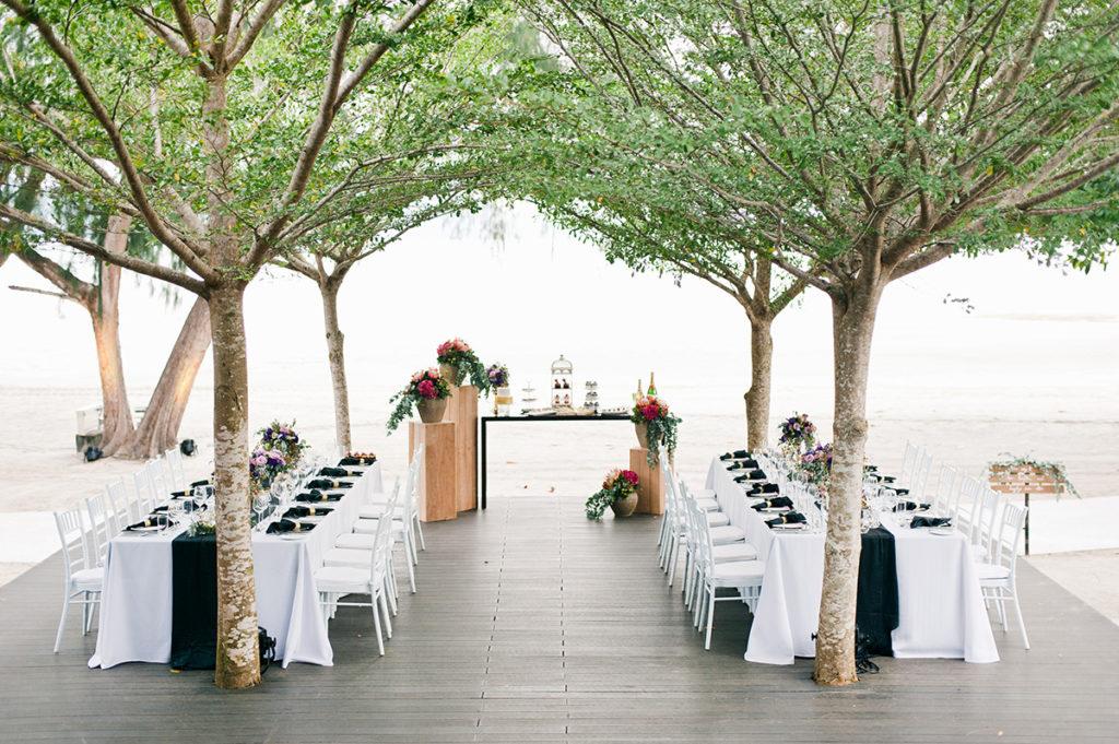 westin langkawi beach wedding on the deck