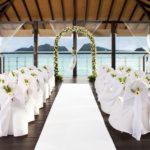 westin langkawi wedding beach deck sheltered