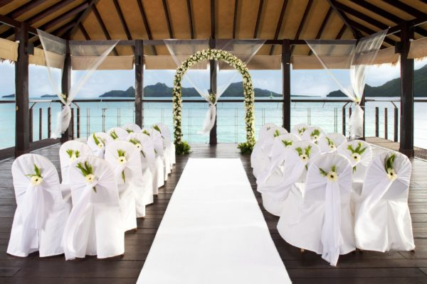 westin langkawi wedding beach deck sheltered