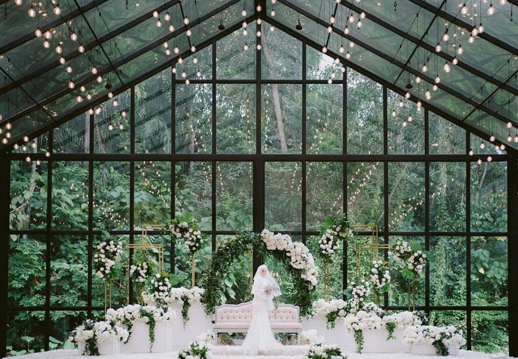 forest valley cheras wedding hall glass house forest green nature